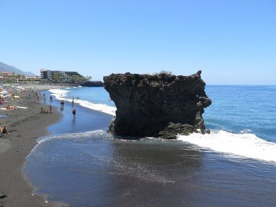 Puerto Naos, La Palma, Tauchen, Strand, Einstieg