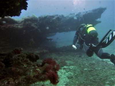 Tauchplatz Pasito Blanco Scuba Sur Gran Canaria tauchen Felsformation kanaren kanarische inseln