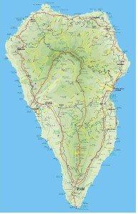La Palma Wandern Karte Urlaub kanarische inseln kanaren Wanderwege wanderführer