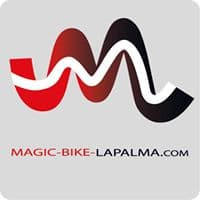 magic bike logo fahrad vermietung leihen fahrradverleih mountain bike mtb la palma  aktivitäten sehenswürdigkeiten