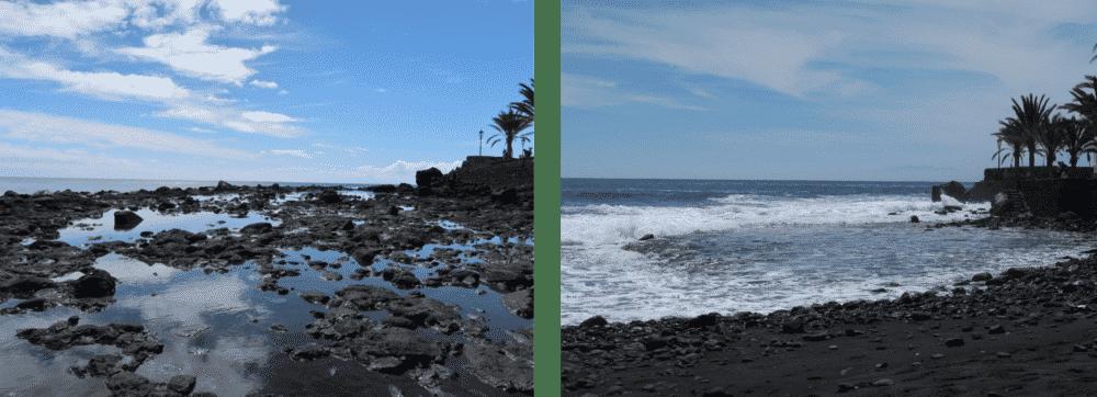 Gezeitentümpel Vergleich Ebbe Flut tauchen auf den kanaren atlantik atlantischer ozean