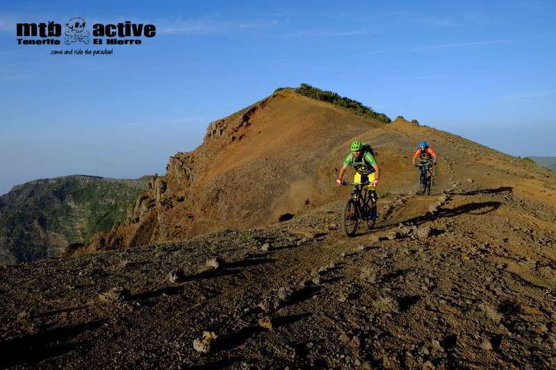 El Hierro mountainbiking aktivitäten mtb active fahrrad verleih rennrad mit logo wandern paragliding schwimmen baden höhlen