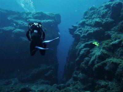 Punta Restinga tauchen el hierro tauchplatz felsspalt kanaren kanarische inseln atlantik