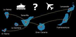 insel hopping Inselhopping kanaren inselhüpfen kanarische inseln insel hüpfen fähre flugzeug Teneriffa Gran Canaria Lanzarote Fuerteventura La Gomera El Hierro verbindungen